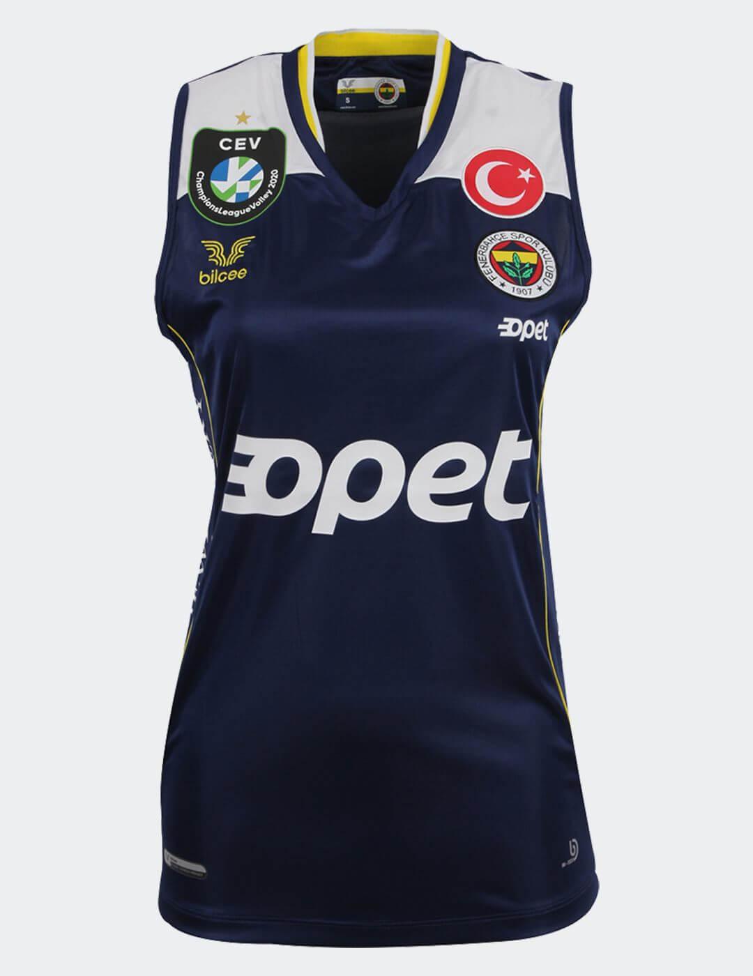 Kadın Lacivert Fenerbahçe Voleybol Maç Forması