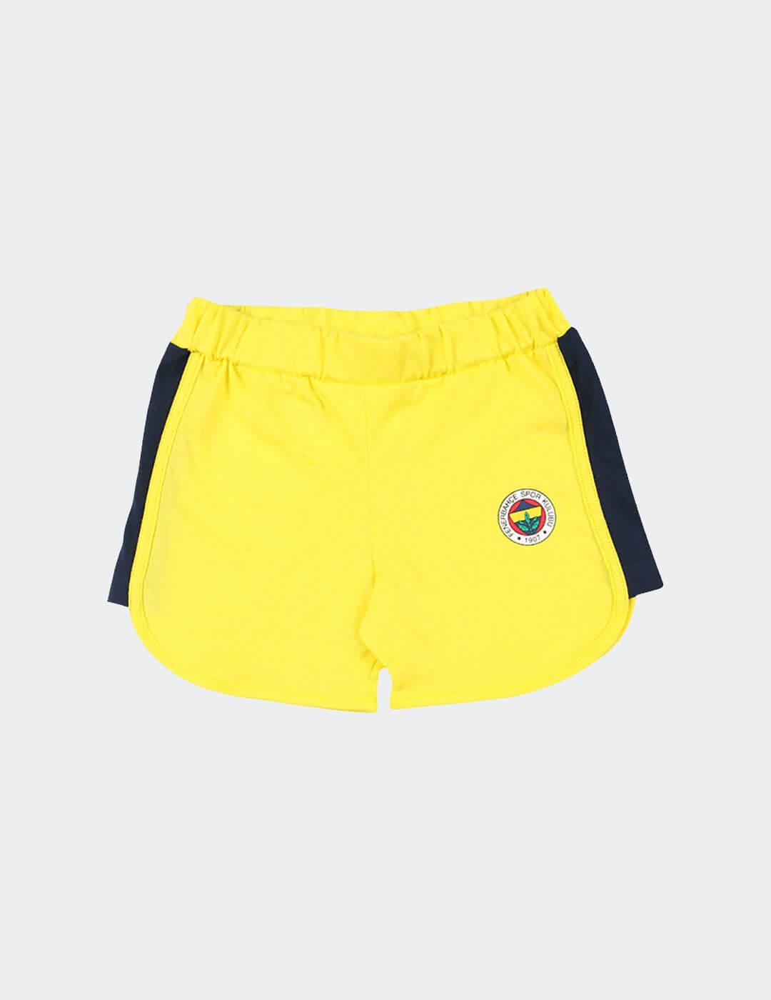 Bebek Sarı Fenerbahçe Logo Şort