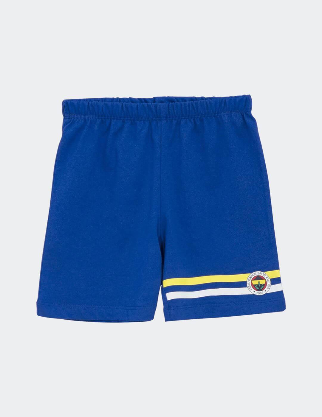 Bebek Mavi Fenerbahçe Bantlı Şort
