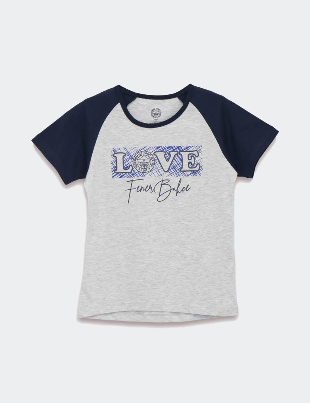 Bebek Gri Fenerbahçe Love T-Shirt