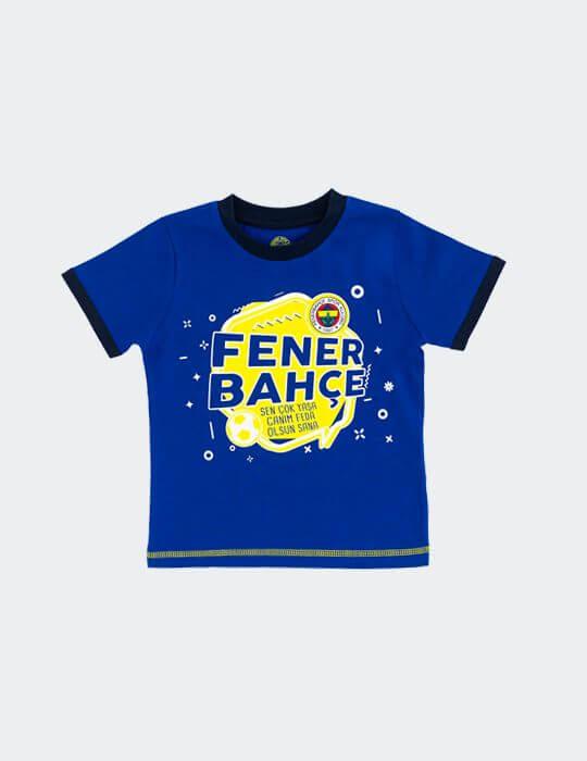 Bebek Mavi Fenerbahçe Logo T-shirt