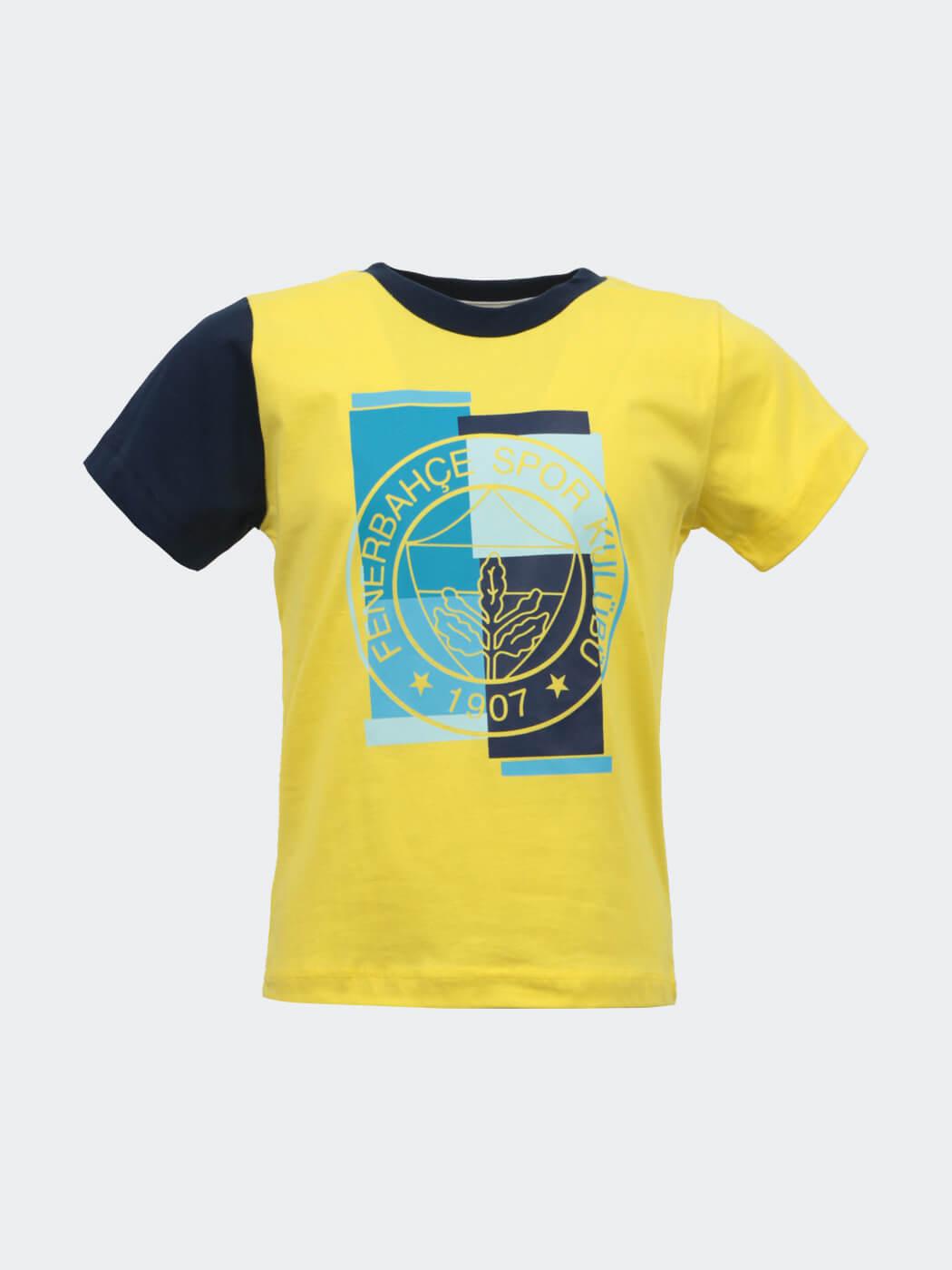 Bebek Sarı Fenerbahçe Logo T-shirt