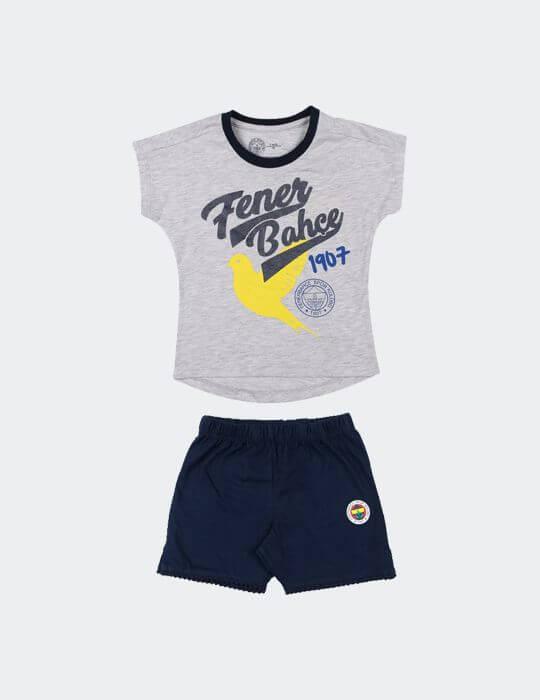 Bebek Gri Fenerbahçe Bird Şortlu Takım