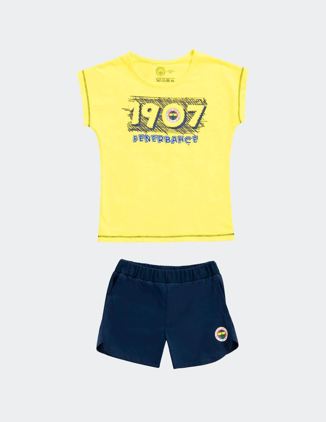 Bebek Sarı FB 1907 Şortlu Takım