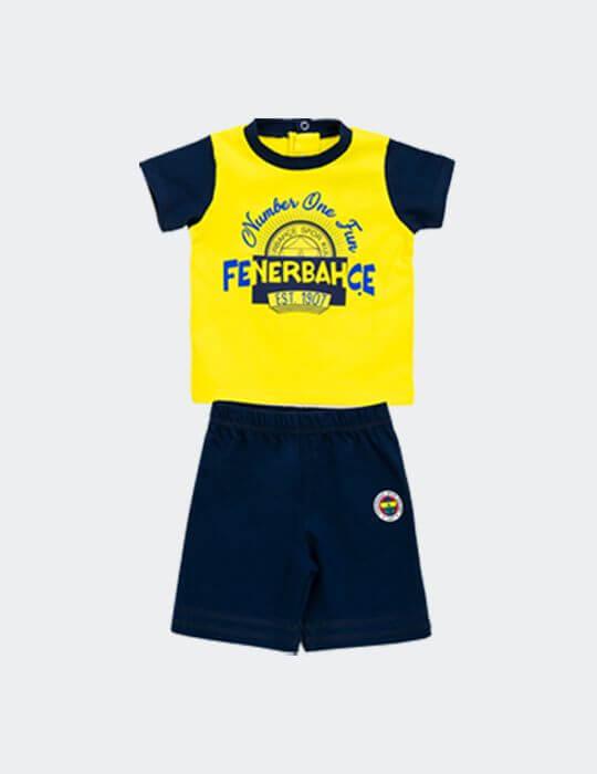 Bebek Sarı Lacivert Fenerbahçe Number One İkili Takım
