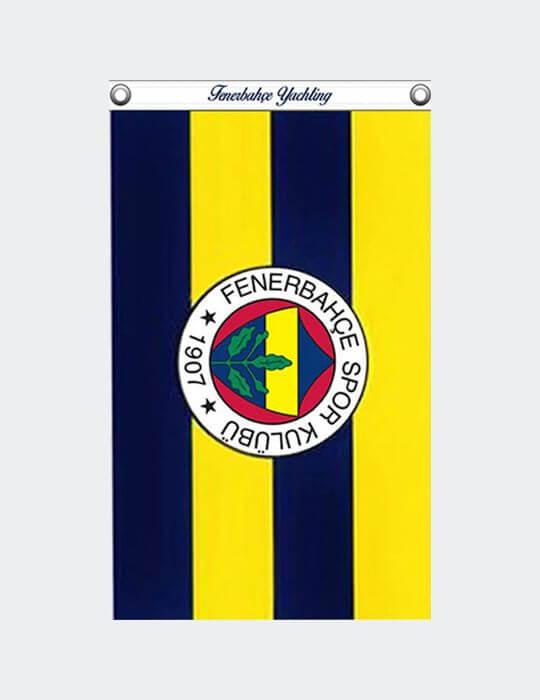 Sarı Lacivert 40x60 Fenerbahçe Çubuklu Dörtgen Tekne Bayrak