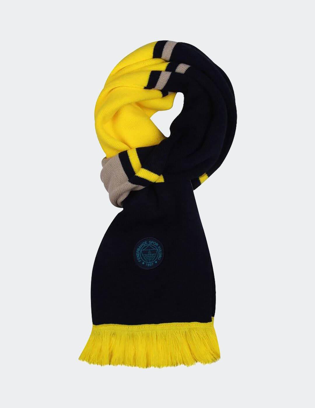 Sarı Lacivert Ginay Atkı