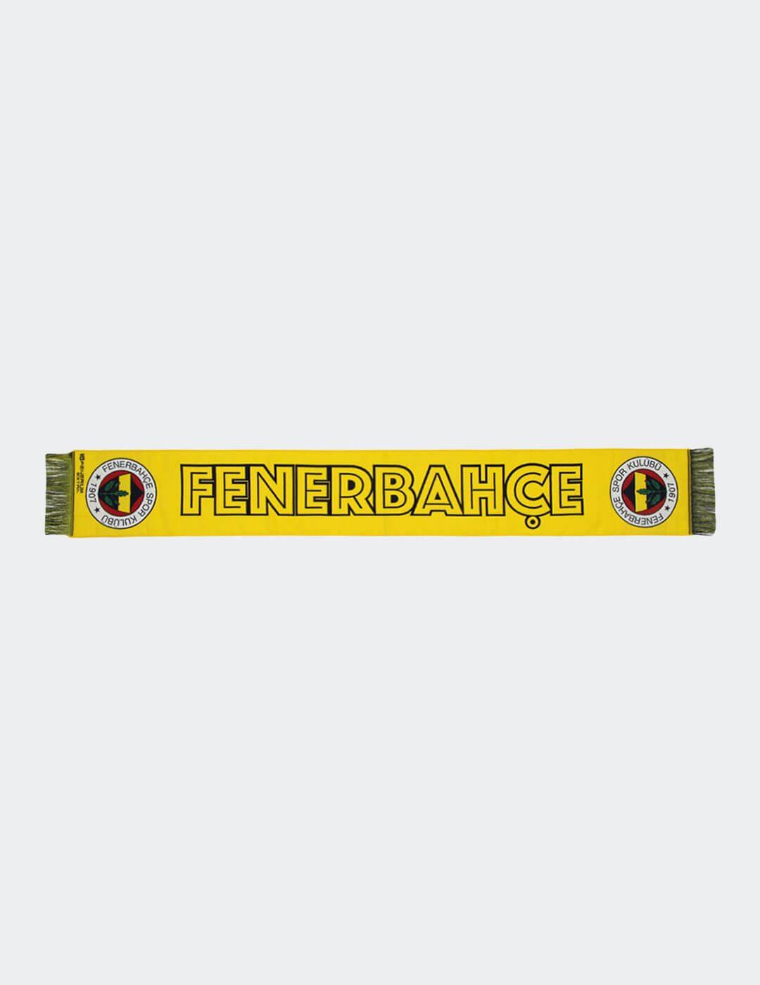 Unisex Sarı Fenerbahçe Dokuma Atkı