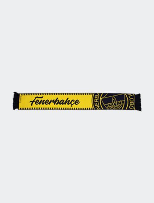 Sarı Lacivert Fenerbahçe  Logo Dokuma Atkı