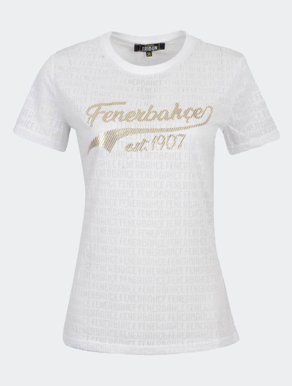 Kadın Beyaz Tribün Est. 1907 Devore T-Shirt
