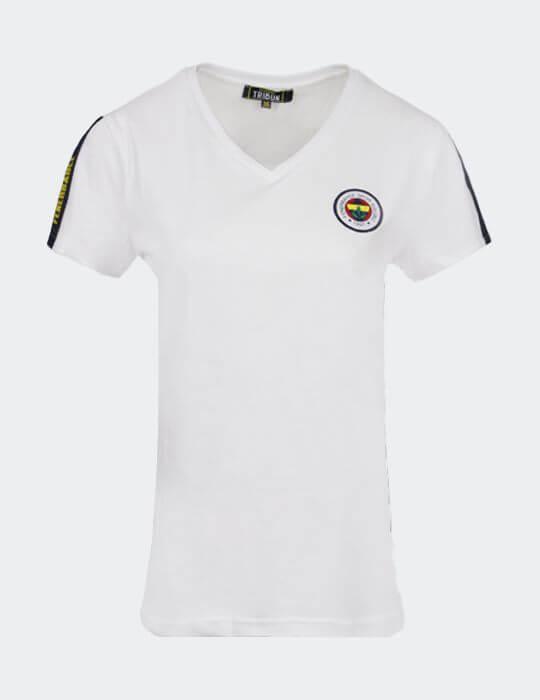 Kadın Beyaz Tribün Basic T-shirt