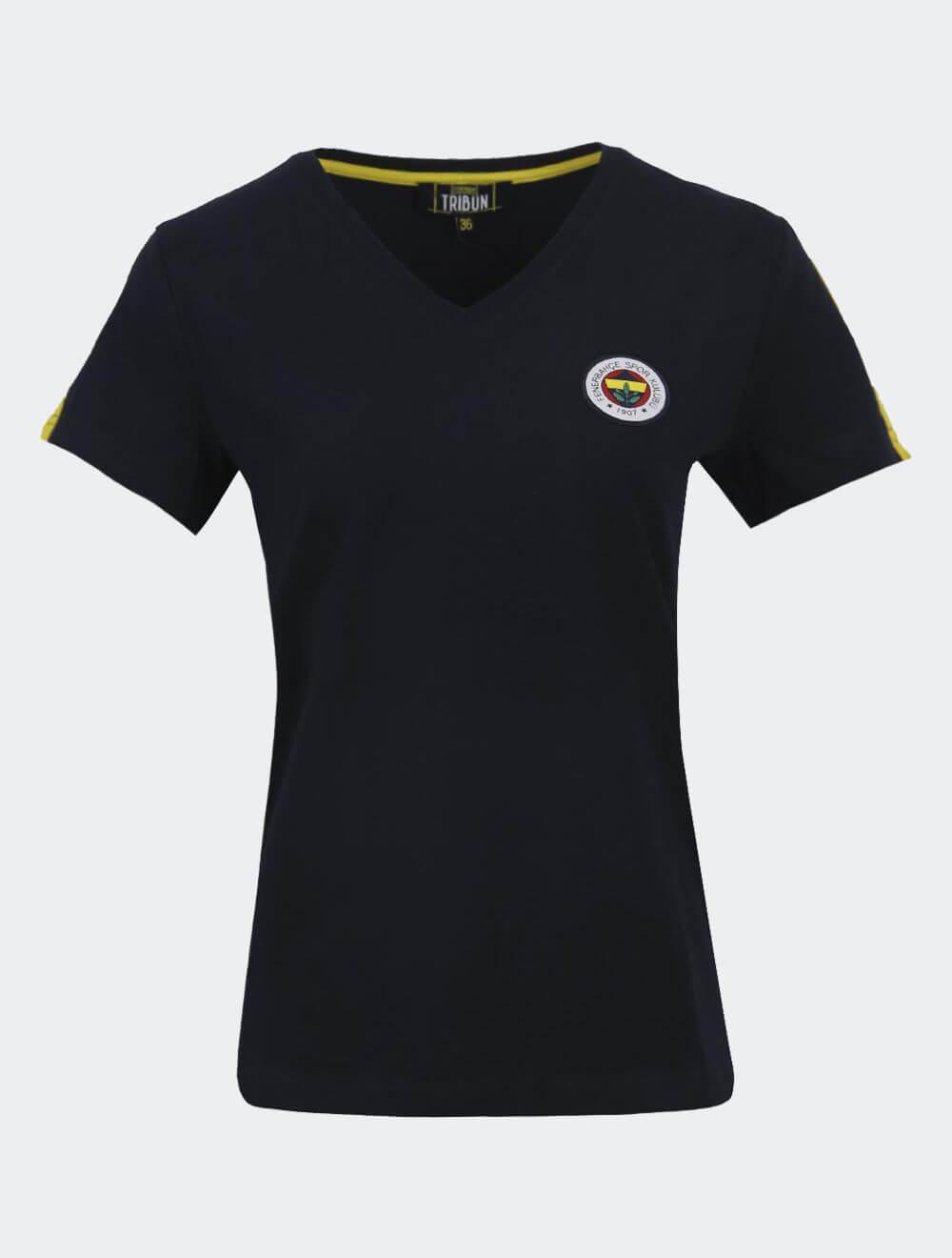 Kadın Lacivert Tribün Basic T-Shirt