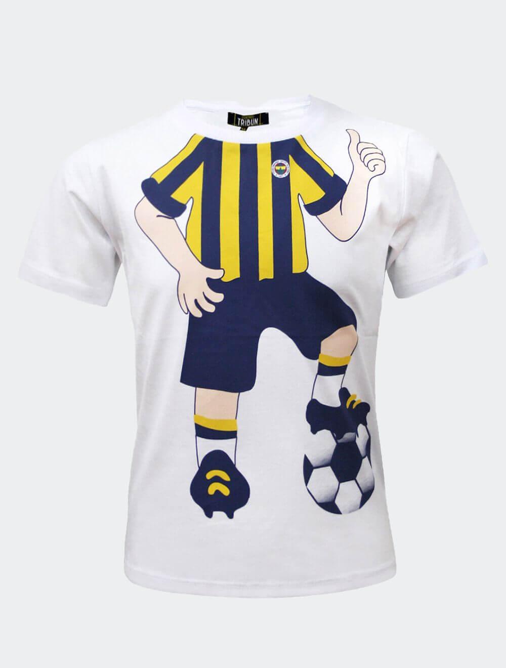 Çocuk Beyaz Tribün Futbolcu T-Shirt