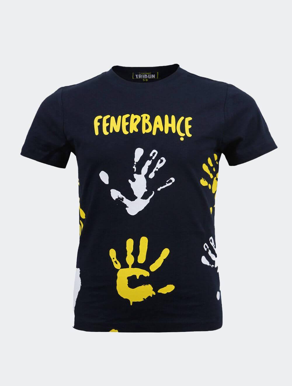 Çocuk Lacivert Tribün El İzi T-Shirt