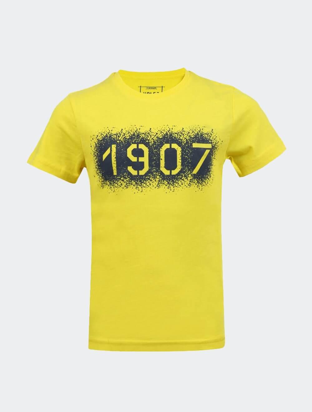 Çocuk Sarı Kolej Kabaran 1907 T-Shirt