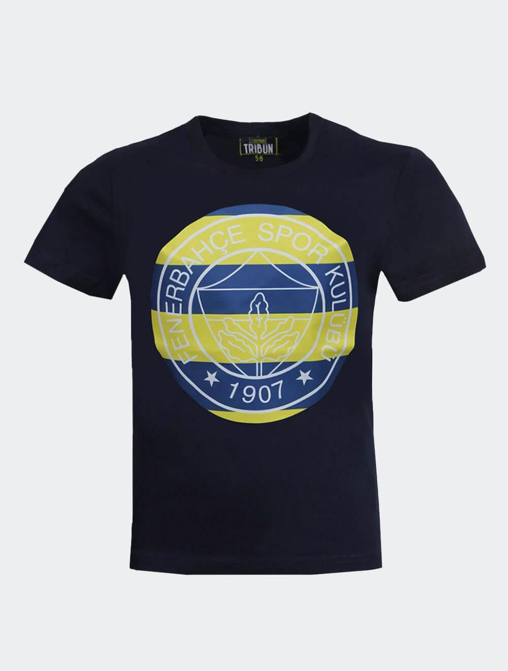Çocuk Lacivert Tribün Çubuklu Logo T-Shirt