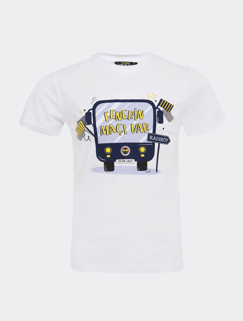 Çocuk Beyaz Tribün Maç Var T-Shirt
