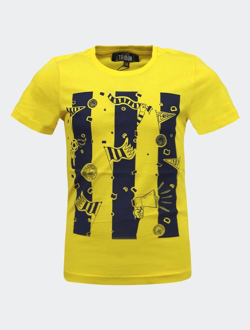 Çocuk Sarı Tribün Kutlama T-Shirt