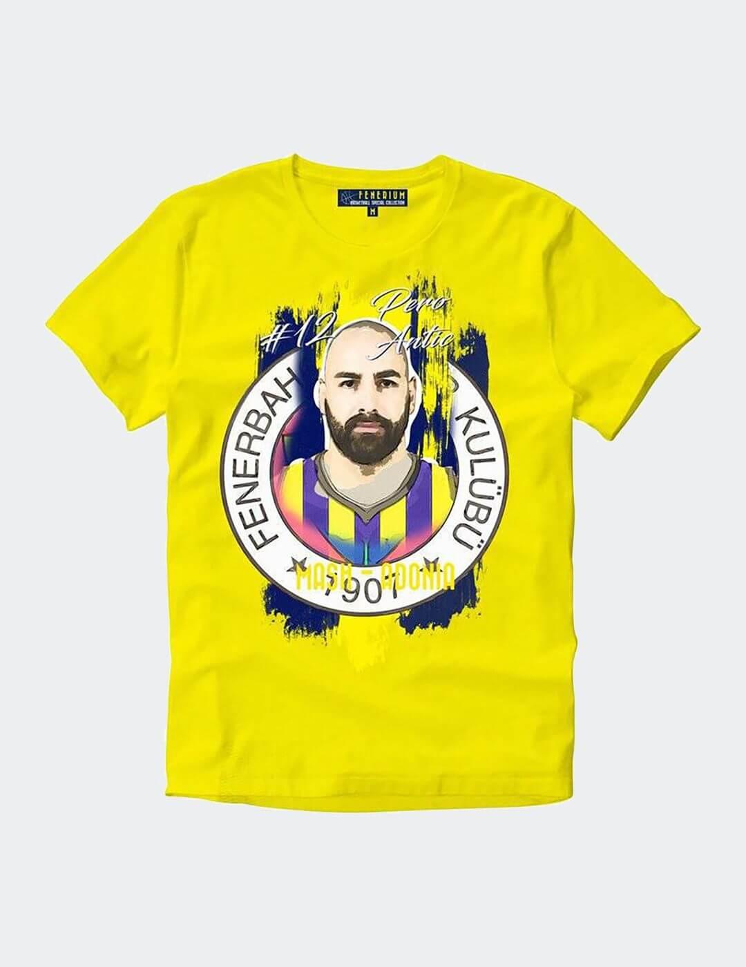 Erkek Sarı Antic Tişört