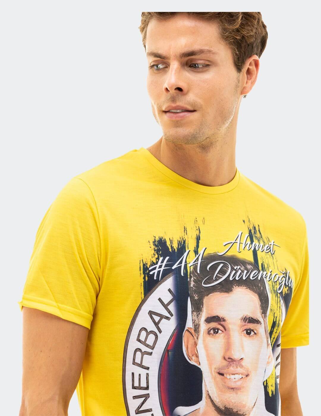 Erkek Sarı Düverioğlu Tişört
