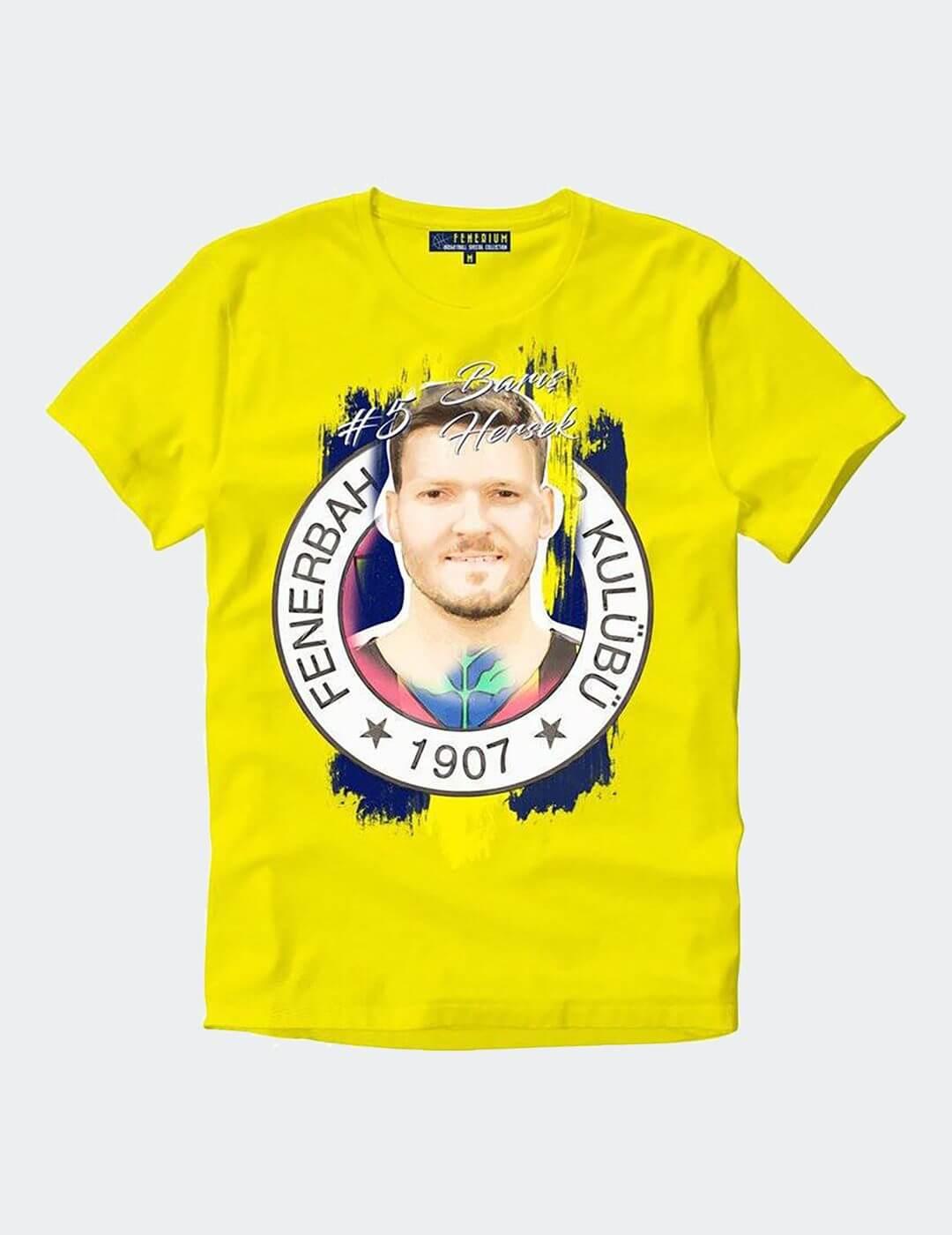 Erkek Hersek Sarı Tişört