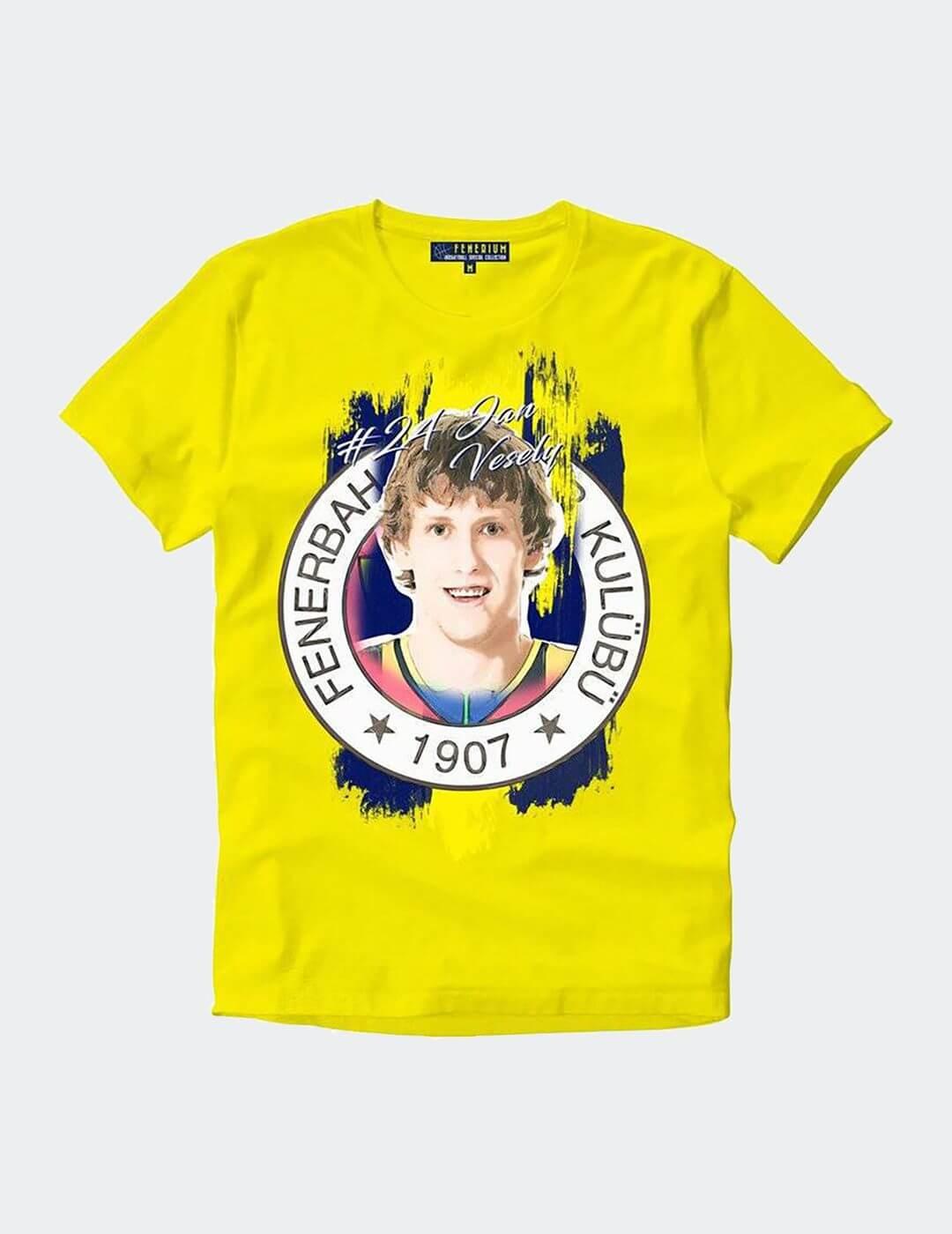 Erkek Sarı Vesely Tişört