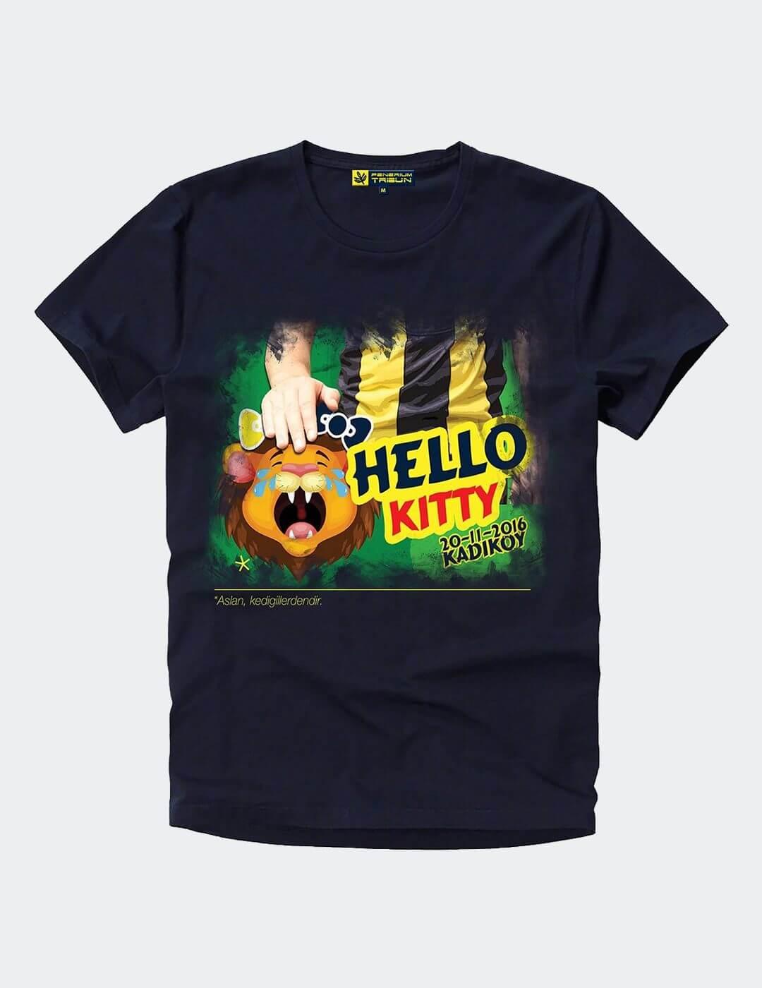 Erkek Lacivert 20 Kasım Kitty T-Shirt