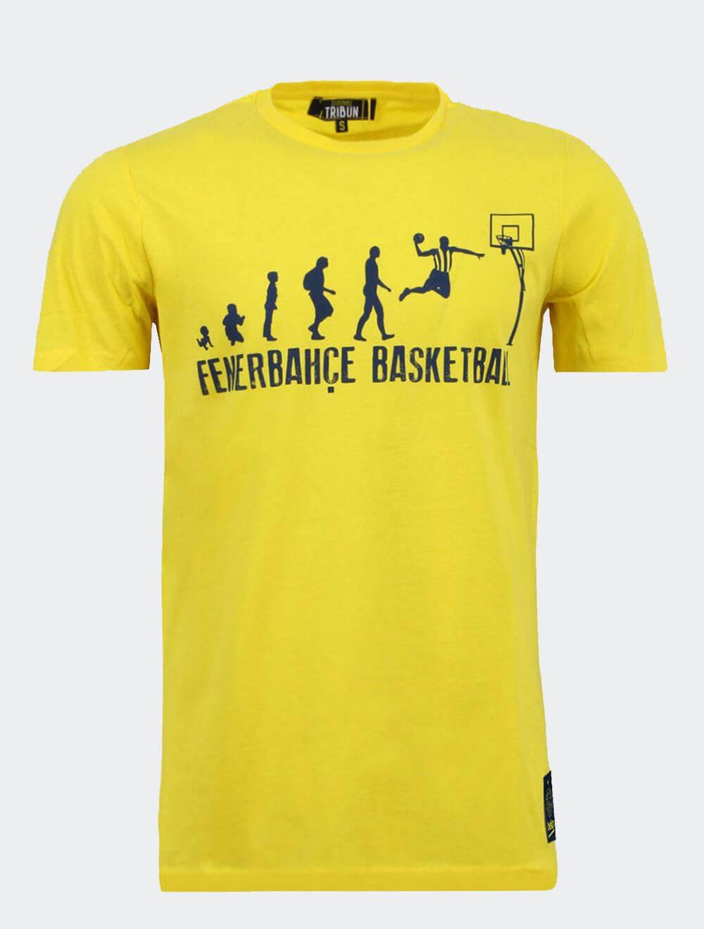 Erkek Sarı Basket Gelişim T-Shirt