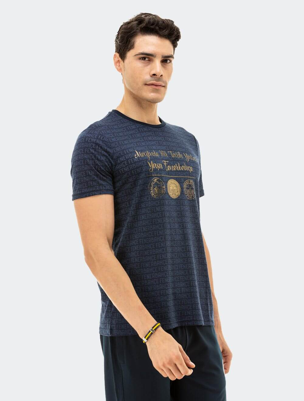 Erkek Lacivert Tribün Mazi T-Shirt
