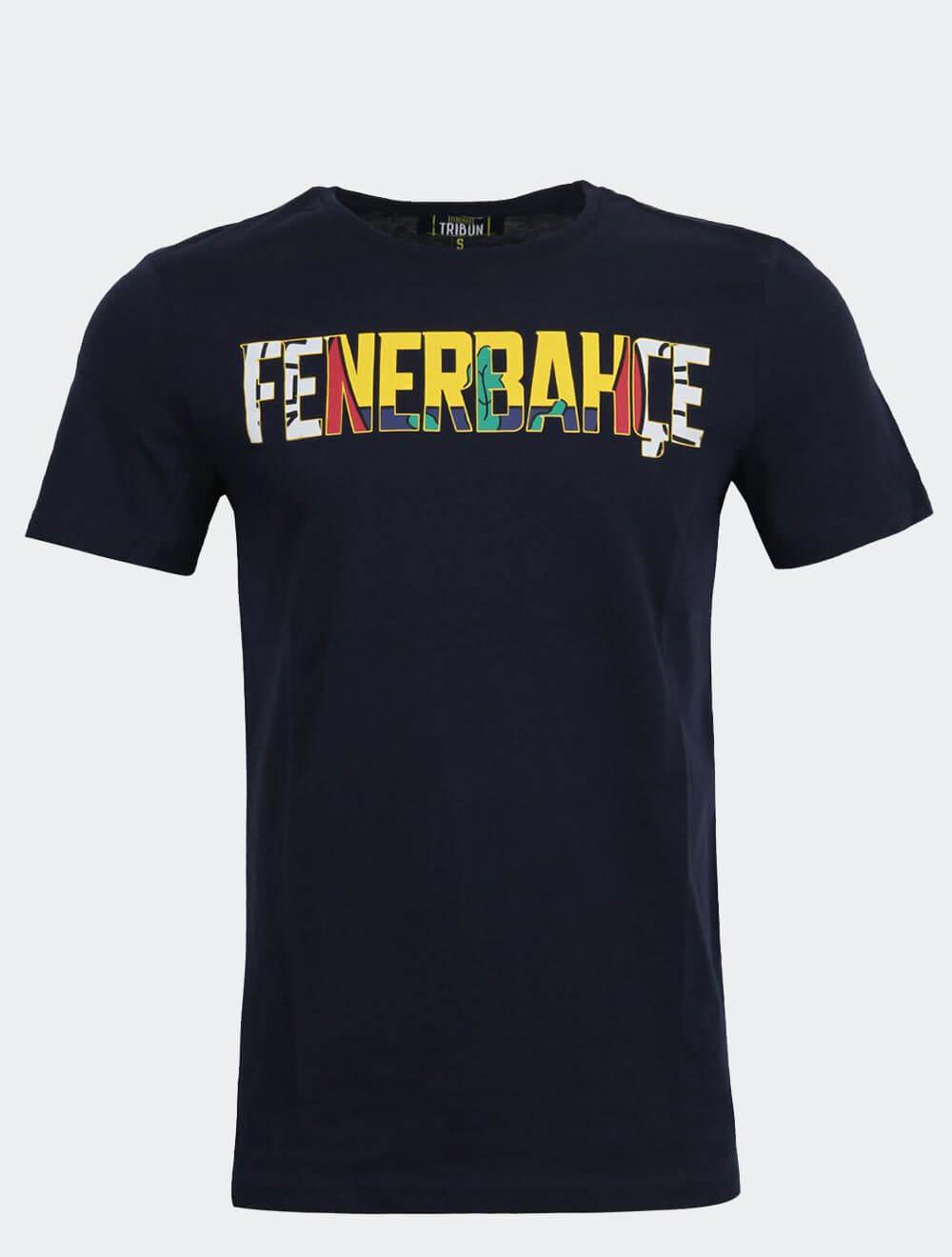 Erkek Lacivert Tribün Fenerbahçe Tişört