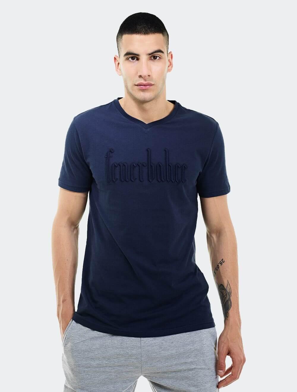 Erkek Lacivert Tribün Evalı T-Shirt