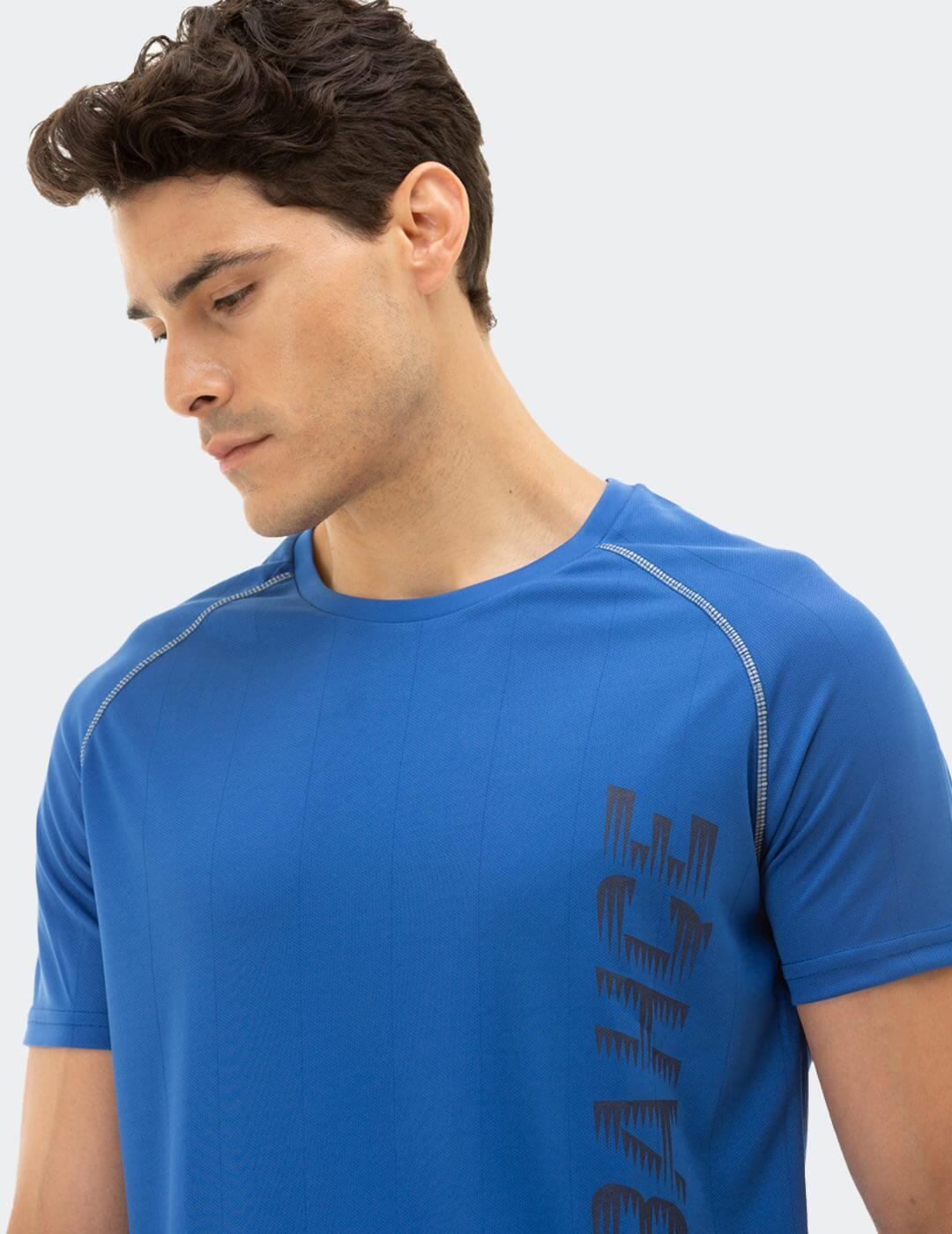 Erkek Mavi Tribün Fenerbahçe Reglan T-Shirt