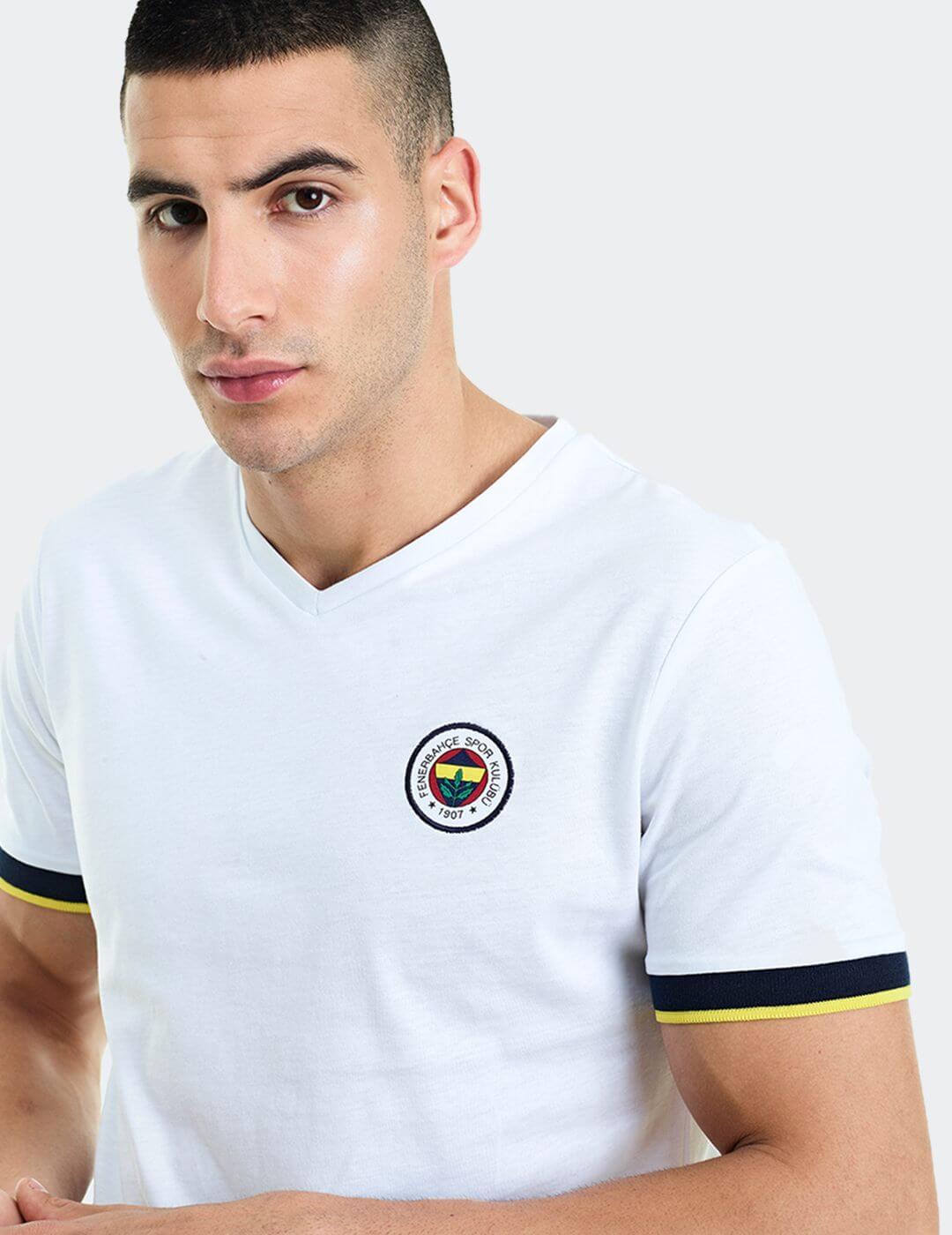 Erkek Beyaz Tribün Basic T-Shirt