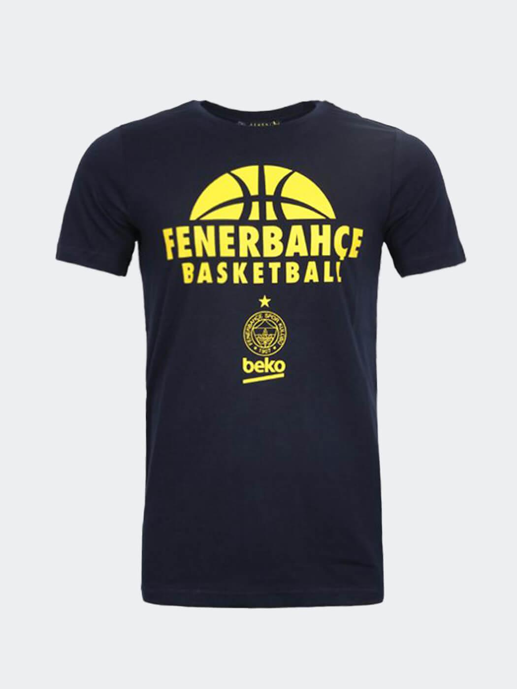 Erkek Lacivert Fenerbahçe 20/21 Basketbol T-shirt