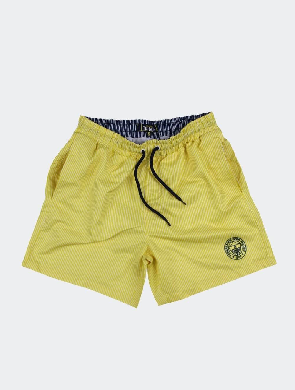 Erkek Sarı Tribün Fenerbahçe Mayo Şort