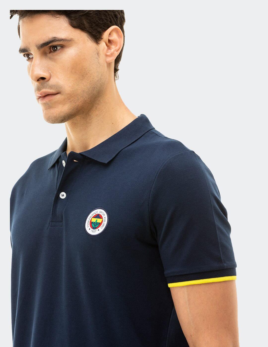Erkek Lacivert Tribün Basic Polo